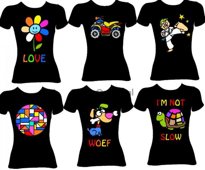 Favoriete Kids/volwassen): Pimp je t-shirt Party : GlitterOnline, 1st #TJ65